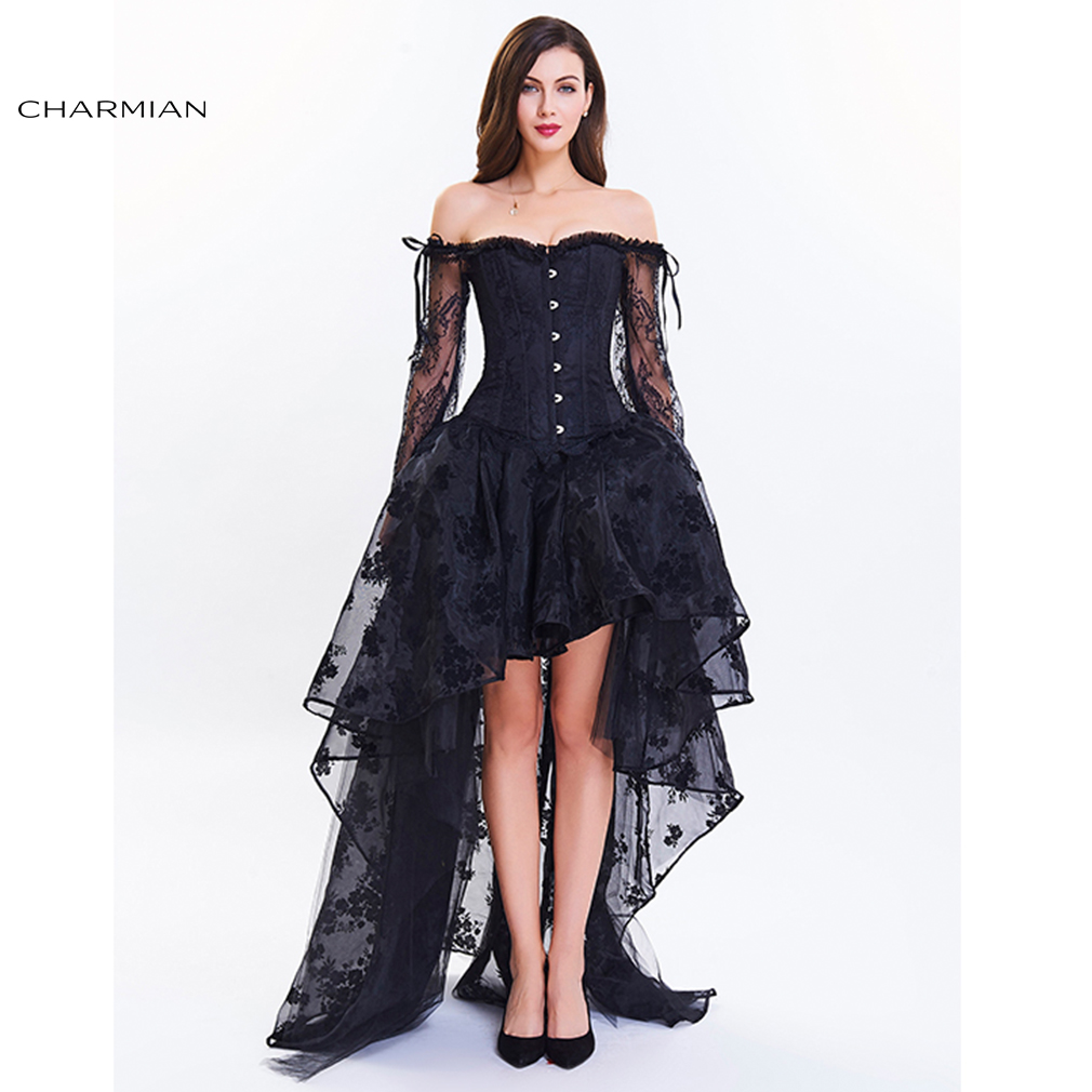 Charmian Women's Vintage Steampunk Corset Dress Victorian ...
