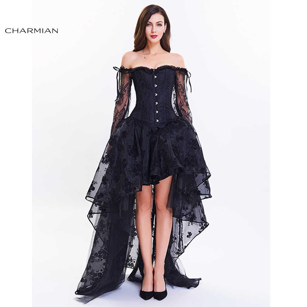0c5ae618e Charmian Women's Vintage Steampunk Corset Dress Victorian Retro Gothic  Corset Top Burlesque Lace Corset and Bustiers
