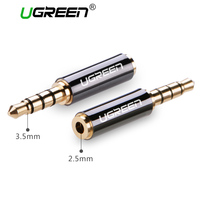 Ugreen High Quality 3.5mm Male Jack to 2.5mm Female Plug 4 Pole Head Phone Earphone Stereo Audio Adapter Connector for Cable