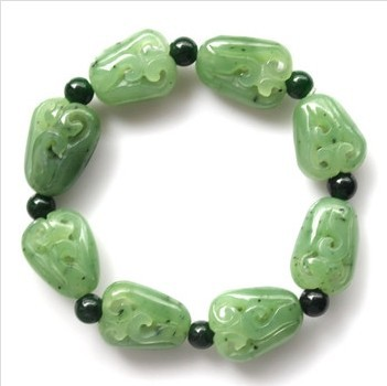 Natural hetian stone blessing melons bracelet attached certificate