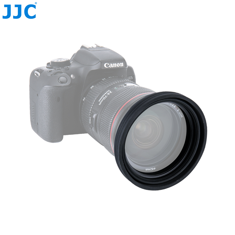 JJC Universal 1 Stage Collapsible Silicone Standard Lens Hood 77mm 82mm 86mm 95mm Camera Lens Protector