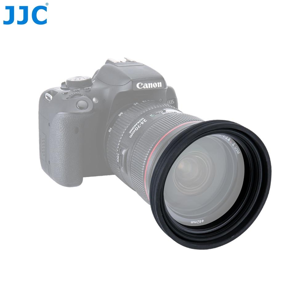 JJC Universel 1 Etape Pliable Silicone Standard Lens Hood 77mm 82mm 86mm 95mm Camera Lens Protecteur