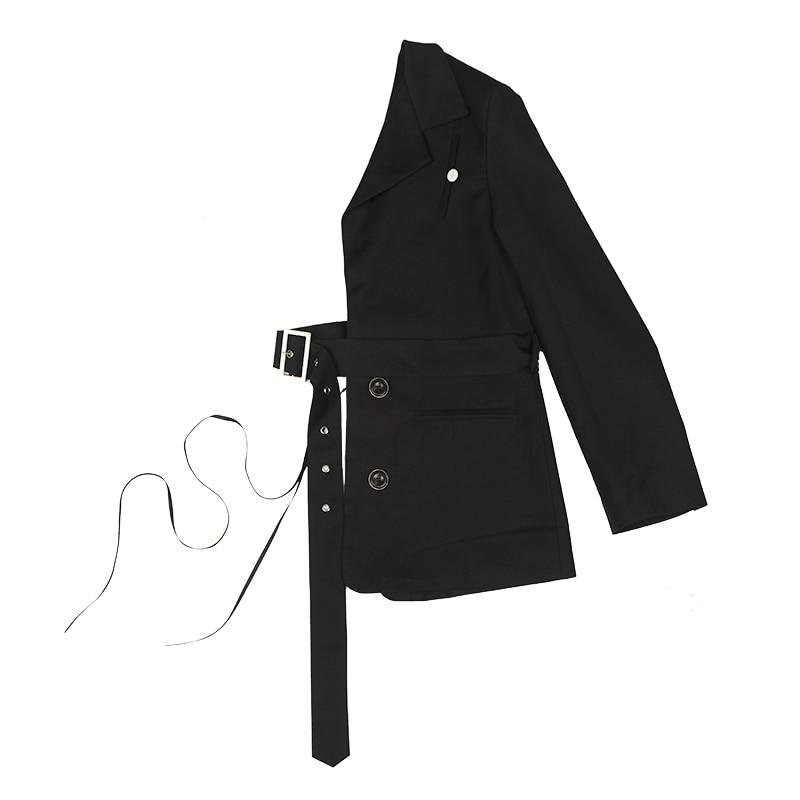 Z Zoux Women Blazer Special Half Suit Blazer Jackets Waist Belt Designer Fashion Blazers Women Coat Long Sleeve Personality New Blazers Women S Clothing Aliexpress