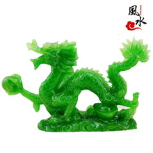 shui ornaments crafts Qinglong jade jewelry Home Furnishing large opening twelve imitation copper dragon Zodiac gifts