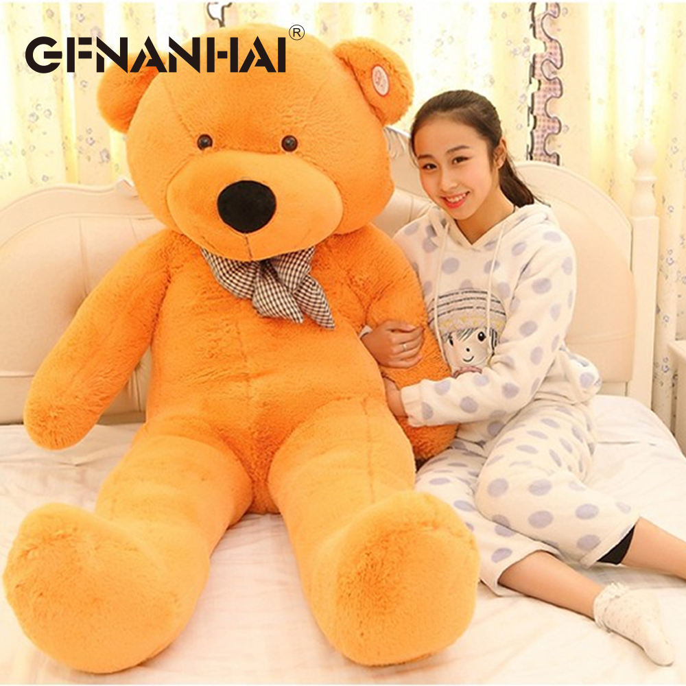 Image 3 - 1pc 80/100cm Cute Teddy bear plush toy stuffed soft bear animal plush pillow for kids girlfriend birthday Valentines giftStuffed & Plush Animals   -