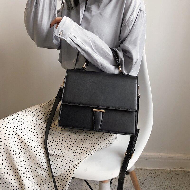Burminsa Korean Style Women Handbags Female Briefcase Unique Crocodile Print Ladies Shoulder Messenger Bags 2019 Red Black Khaki