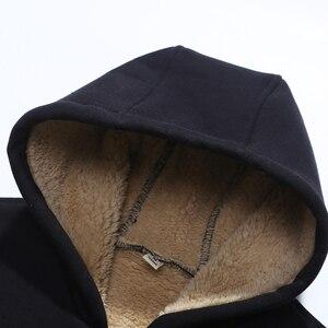 Image 4 - Grandwish נים גברים סלעית מקרית צמר החורף לעבות חם מעיל זכר קטיפה זכר חולצות מעיל רוכסן ברדס מעילים, DA943