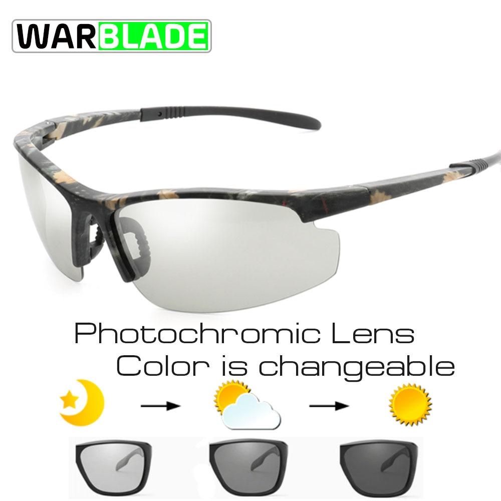 WarBLade Pochromic Sunglasses Men Polarized Chameleon Discoloration Sun glass...