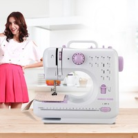 Ships From Russia! 12 Stitches Mini Sewing Machine Household Double Thread Speed Handheld Overlock Sewing Machine