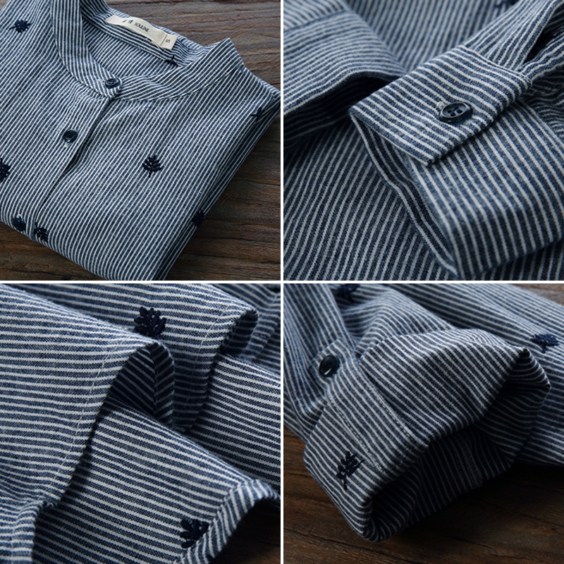 BEFORW Qadın Bluz Moda Təsadüfi zolaqlar Böyük Ölçü Qadın - Qadın geyimi - Fotoqrafiya 5