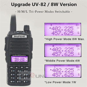 Image 2 - Agrandir 3800mAh UV 82 8W Baofeng UV 82 Talkie walkie 10 KM Baofeng 8W Radio Double PTT UV XR UV 9R GT 3TP Jambon Radio 10 KM UV 5R 8W