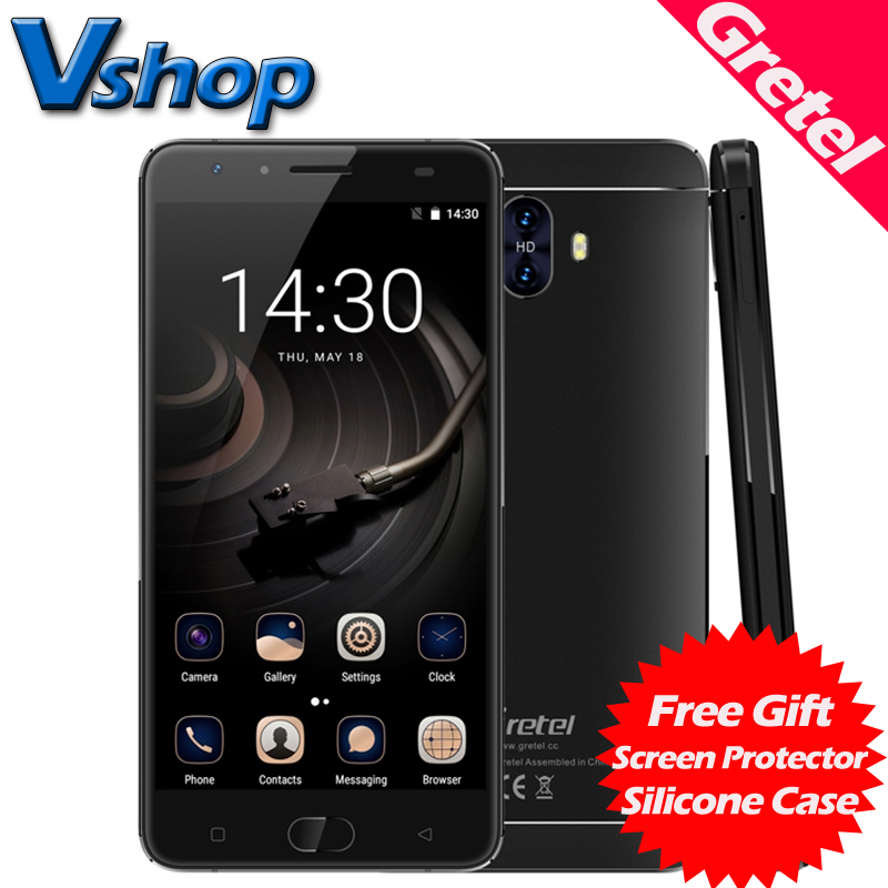 Original Gretel GT6000 4G Mobile Phones Android 7.0 2GB + 16GB Quad Core Smartphone 6000mAh Battery 5.5 inch Dual SIM Cell Phone