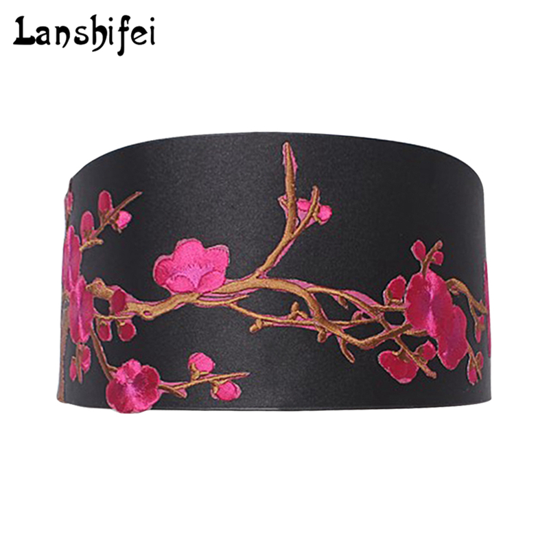 Wide Waist Belt Fashion Female Elastic Tassel Wide Belt Decoration Dress Accessories Belt Cummerbunds Plum Blossom Chinese Style