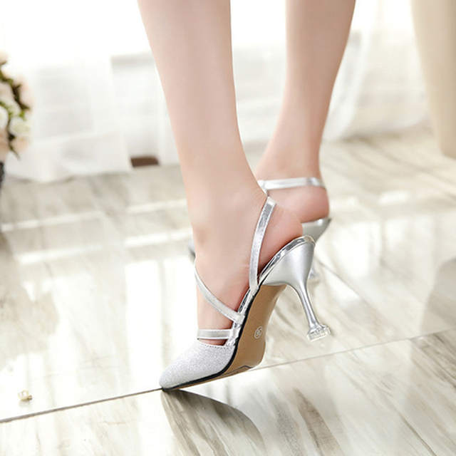 placeholder 2018 spring heel High Heels Sandals lady Pumps classics slip on Shoes  sexy Women party shoes 16e0f39f0763