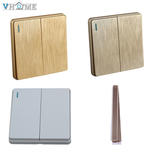 Vhome RF 433Mhz 2button Universal Wireless Wall Switch shape light remote control transmitter For touch switch smart home Lights