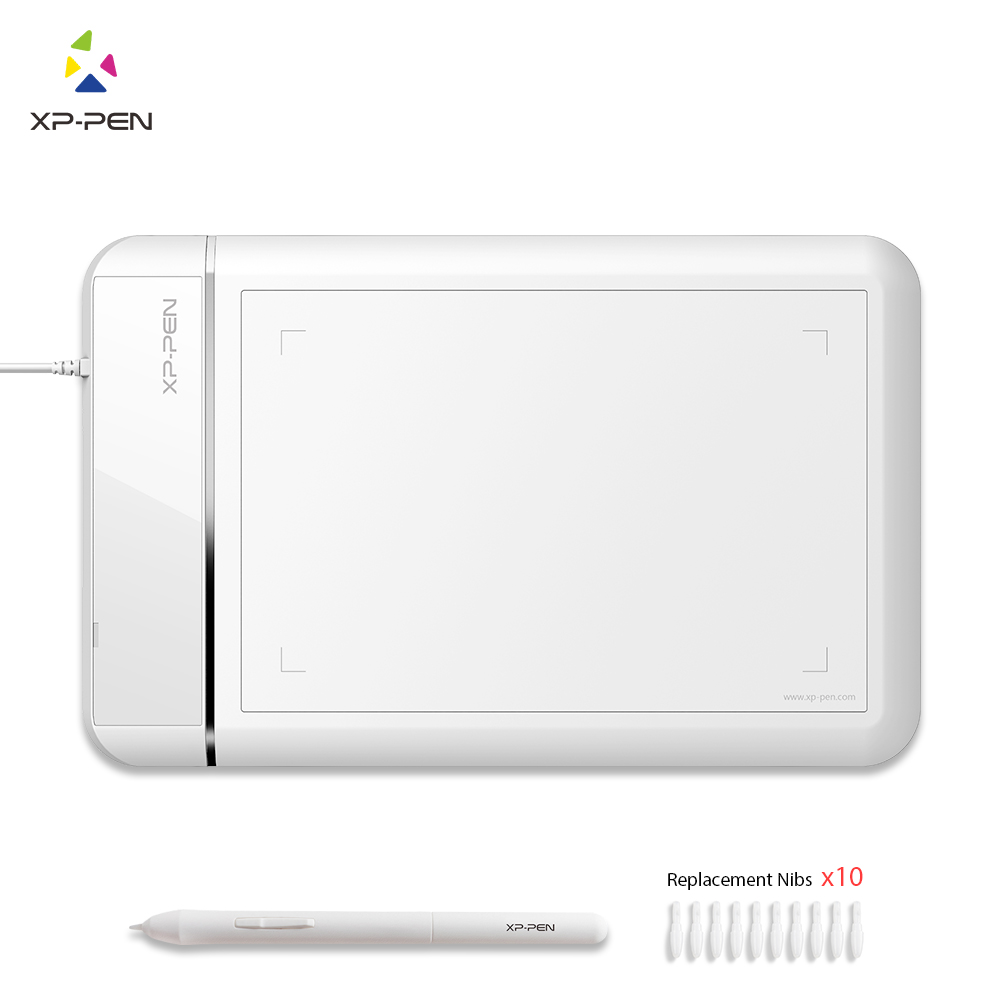 XP-Pen Star 01 Digital Graphics Drawing Tablet with 2048 Level Passive Pen xp pen star 03 graphics drawing tablet with battery free passive pen digital pen