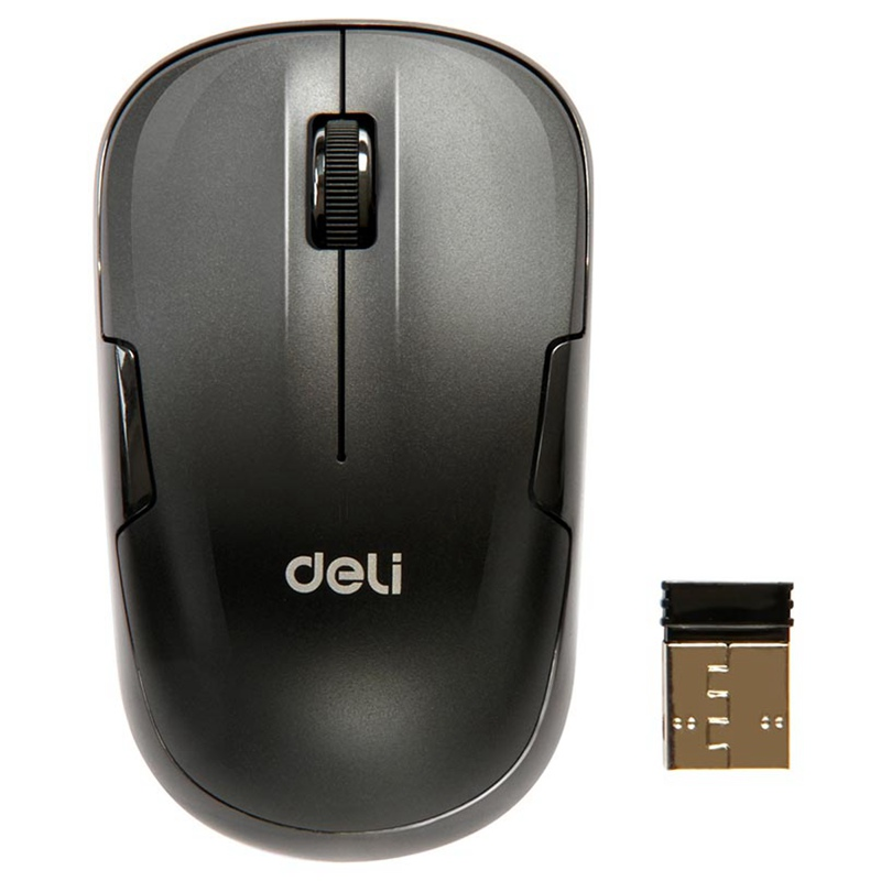 Deli 2.4G Wireless Mouse Silent Button 1000DPI Ergonomic Vertical Slim Mouse Office Mice For Computer Laptop Silence Mouse