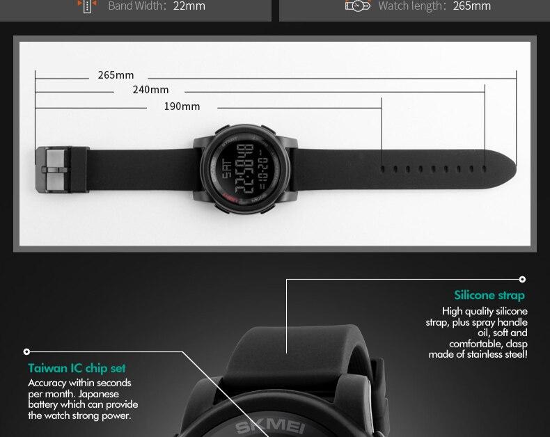 63c64b0af3d6 POPART deporte relojes hombres cronómetro 50 m impermeable relojes del  cuarzo de la manera LED Digital para mujeres Relogio Masculino 2018USD  12.99 piece