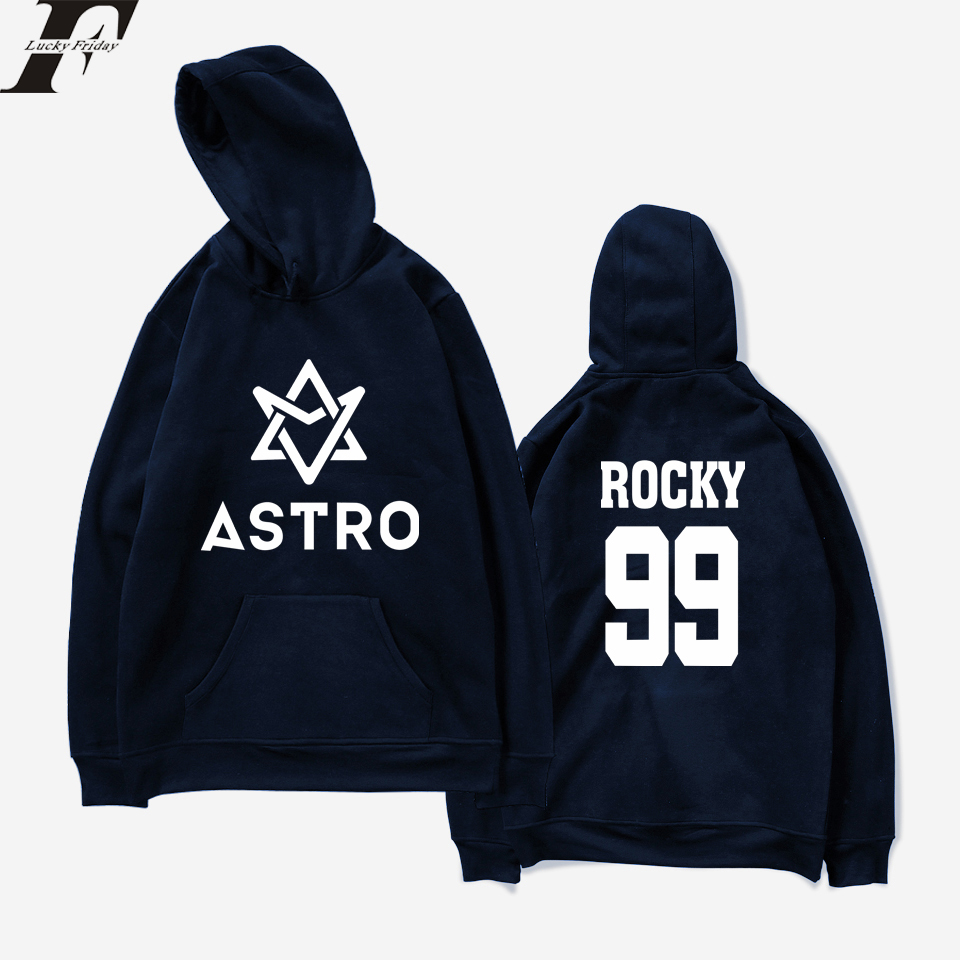 2018 Kpop LUCKYFRIDAYF ASTRO Hoodies Sweats STAR Groupe Printemps Femmes/Hommes Harajuku Sweat À Capuche Casual Hommes/Femmes Vêtements