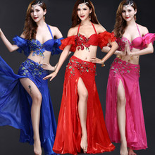 0f6623a93df2 Belly Dance Costumes Women Bellydance Costume Carnival Bra Belt Long Skirt  Bollywood Indian Clothing Exotic Dancewear