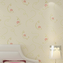 3D Garden Small Floral Non-woven Wallpaper Fresh Wedding Room Bedroom Living Room Background Wall Paper beibehang pure non woven wallpaper fresh korean style small floral wall paper bedroom living room children s room papier peint