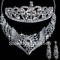 New Arrival Gorgeous Rhinestone Bridal Jewelry set Fashion Wedding Jewelry sets for Women Dress wedding Accessories wholesale