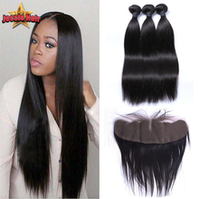 Ear To Ear Lace Frontal Closure With Bundles Straight Brazilian Virgin Hair With Frontal Closure Weave With Lace Frontal Closure