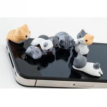 2 шт милый кот Пылезащитная заглушка телефон Анти Пыль 3,5 мм Универсальный телефон Пылезащитная заглушка для htc Samusng iPhone Разъем для наушников Пылезащитная заглушка