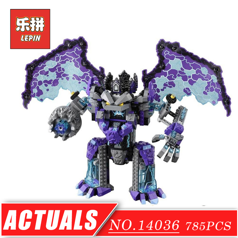LEPIN 14036 The Stone Colossus of Ultimate Destruction Knight Monster Building Blocks Bricks DIY Model Toys Hobbies Children in stock lepin 14036 785pcs nexoe the stone colossus of ultimate nexus destruction knights building blocks bricks toys for kids