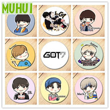 19 Styles Kpop GOT7 Albums Jaskson JB YuGyeom Q Styles Brooch Pins Badge Broches For Clothes Backpacks C125(China)