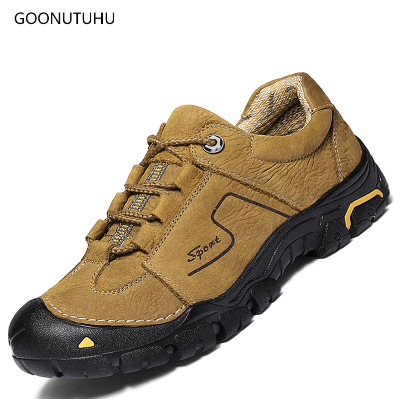 Men's shoes casual genuine leather lace up autumn & winter new work shoe man young breathable comfortable non-slip shoes for men 2015 tigergrip lightweight waterproof non slip shoe covers man hotel kitchen work shoes rubber overshoes for special work