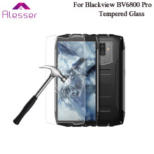 Alesser For Blackview BV6800 Pro Premium Tempered Glass Film Scratch-proof Protective Steel Film 5.7'' For Blackview BV6800 Pro(China)