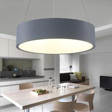 LED acrylic chandelier restaurant round modern minimalist atmosphere and creative personality study office lighting