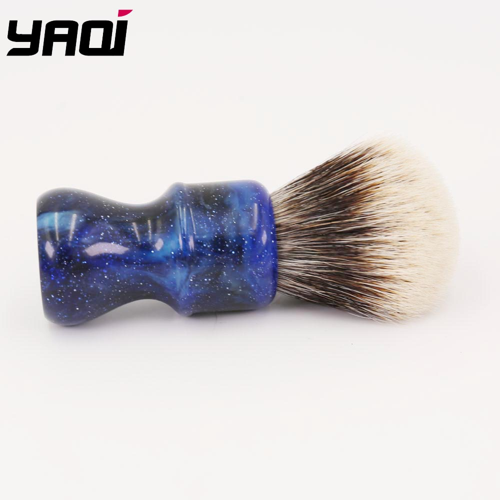 24MM Yaqi Mysterious Space Color Handle Två Band Badger Hair Knot - Rakning och hårborttagning - Foto 3