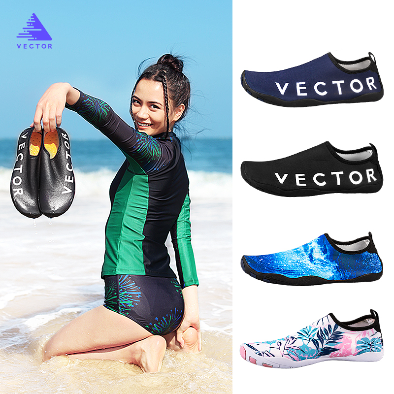 Men Women Swimming Shoes Water Shoes Aqua Slippers Thick Seaside Beach Sneaker Non-slip Quick-drying Light Barefoot Soft Socks