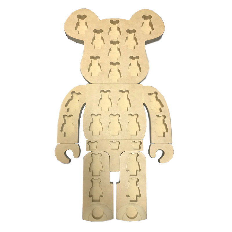 1000% bearbrick Bear@brick display Box Put into the 20pcs 100% bearbrick Display board 400% bearbrick bear brick ted2 bear model art figure as a gift for boyfriends girlfriends and students
