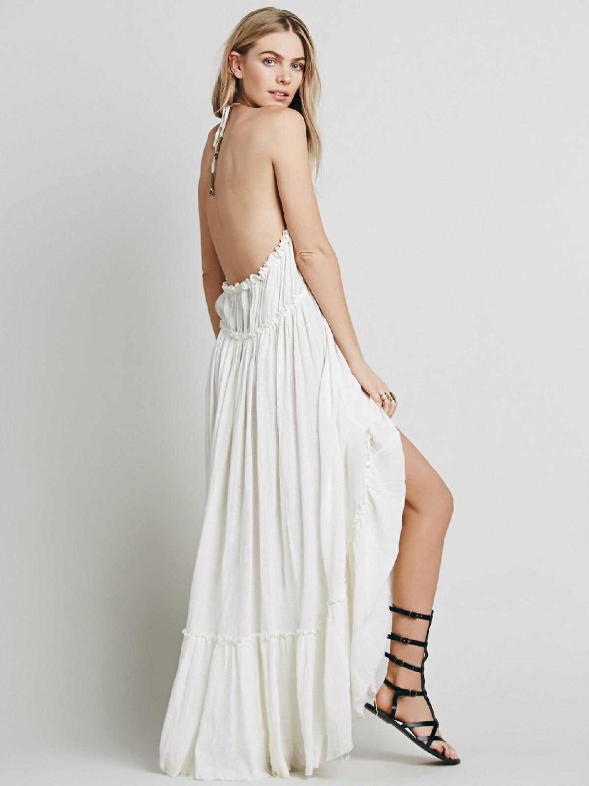 Beauty Backless V-Neck Long Dress 4