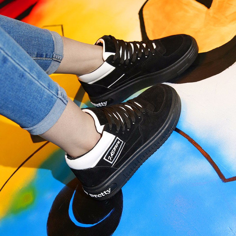 Casual Women Shoes Lace Up Breathable Platform High Top Casual Shoes KUYUPP 2016 Spring Autumn Fashion Lace Up Skate Shoes YD158 (41)