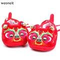 Weoneit Китайская Традиционная Вышивка Ребенка Малыша Обувь Детская Мягкое Дно Детские Ботинки Ткани Младенца Китайский Тигр Благоприятный