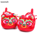 Weoneit Chinese Traditional Embroidery Baby Toddler Shoes Infant Soft Bottom Baby Cloth Shoes Baby Chinese Tiger Auspicious