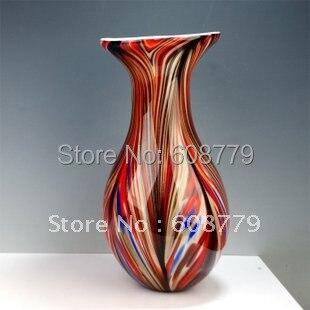 Livraison gratuite garantie 100% Vases en verre colorés soufflés à la main