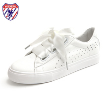 Woman White Shoes with Silk Ribbon Women Summer Shoes with Bow Lace Up 2017 New Fashion Trending Style Sweet Riband Size 35-40