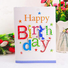 10 Pcs/lot Kids Students Happy Birthday Music Card Creative Three-dimensional Letter Best Wishes