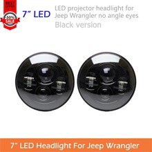 "2pcs 7"" LED Headlight For Wrangler JK TJ LJ H4 Hi-lo Beam PAR56 Front Driving Headlamp Car Styling Head Light For Land Rover"