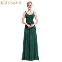 Long Elegant Prom Dresses 2017 Straps Chiffon Vestido De Festa Black Green Blue White Prom Dresses