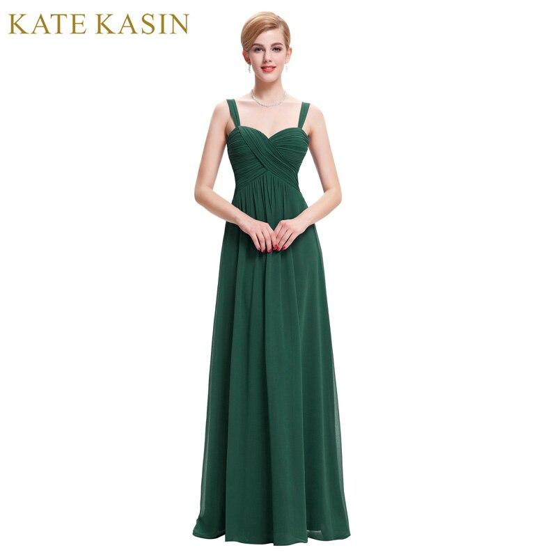 Long Elegant Prom Dresses 2018 Straps Chiffon Vestido de Festa Black Green Blue White Prom Dresses Robes de Soiree Party Dress