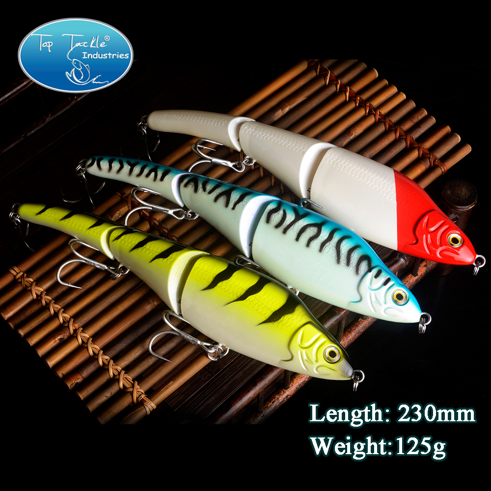 Free Shipping Snake Swimmer 3 jointed lures swimbait fishing lures 230mm125g