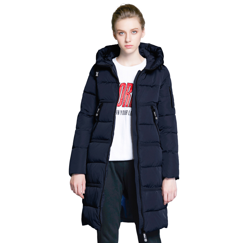 ICEbear 2018 New Winter Coat Women High Quality Parka Women's Fashion Jacket Bilateral Pocket Thick Hooded Windproof 17G666D icebear 2018 new autumnal men s jacket short casual coat overcoat hooded man jackets high quality fabric men s cotton mwc18228d