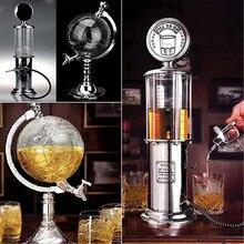 Мини-диспенсер для пива, питьевые сосуды, Глобус Стиль, новинка, заполняющий газовый насос, бар, диспенсер для алкоголя, ликера