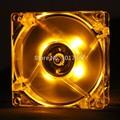 1 unids Gdstime Amarillo 12025 120mm 12 cm 4Pin 120 MM * 120 MM * 25 MM Ordenador PC LED Ventilador Sin Escobillas